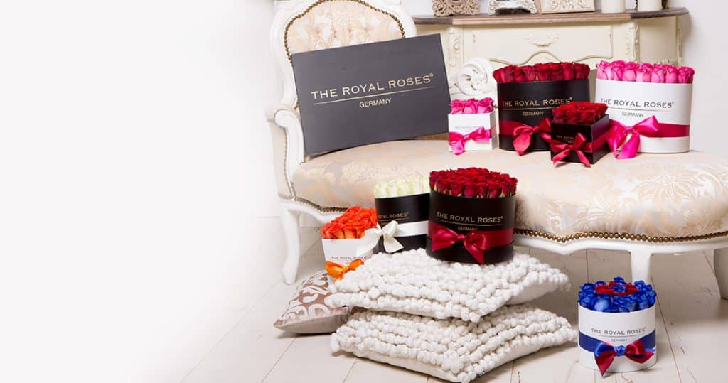 The Royal Roses® größte Variation an Rosen Flower Box